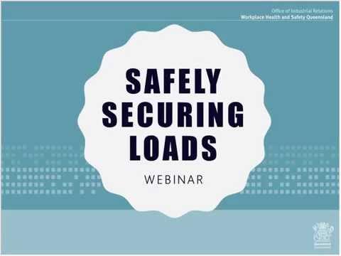 Webinar: Safe handling when securing loads