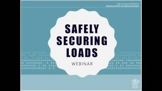 Safe handling when securing loads webinar