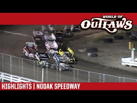 World of Outlaws Craftsman Sprint Cars Nodak Speedway August 28th, 2016 | HIGHLIGHTS