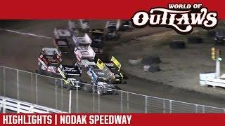 World of Outlaws Craftsman Sprint Cars Nodak Speedway Highlights