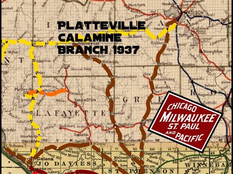 Platteville to Calamine Wisconsin 1937 1940 CMStP&P Milwaukee Road