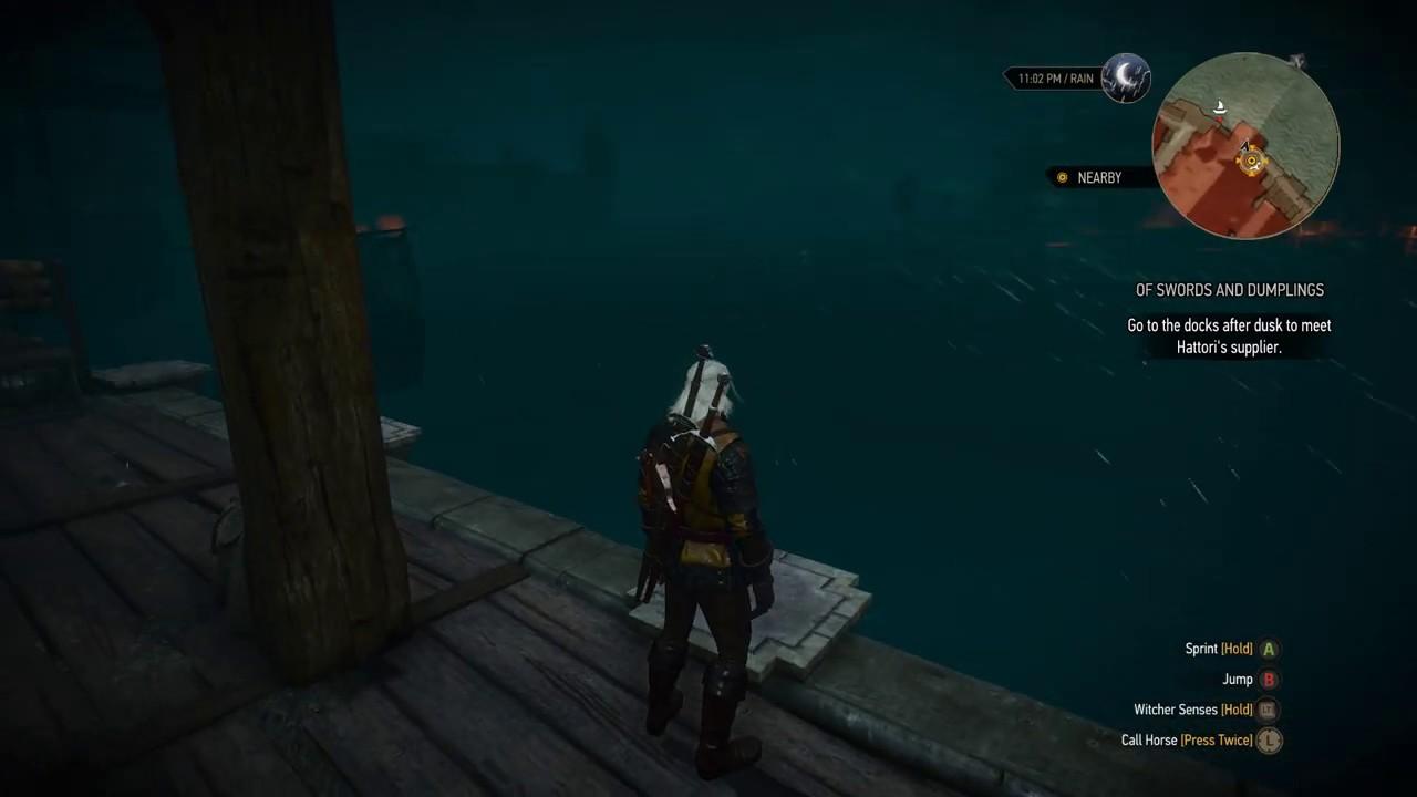 The Witcher 3 Go To Docks After Dusk Meet Hattori Supplier