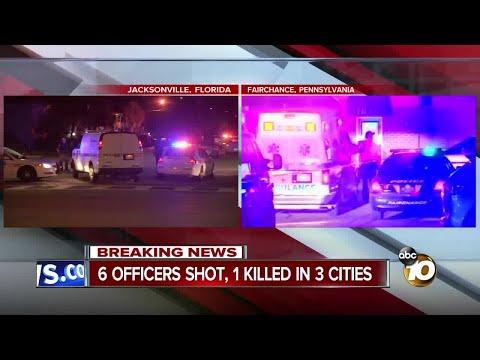 6 officers shot, 1 killed