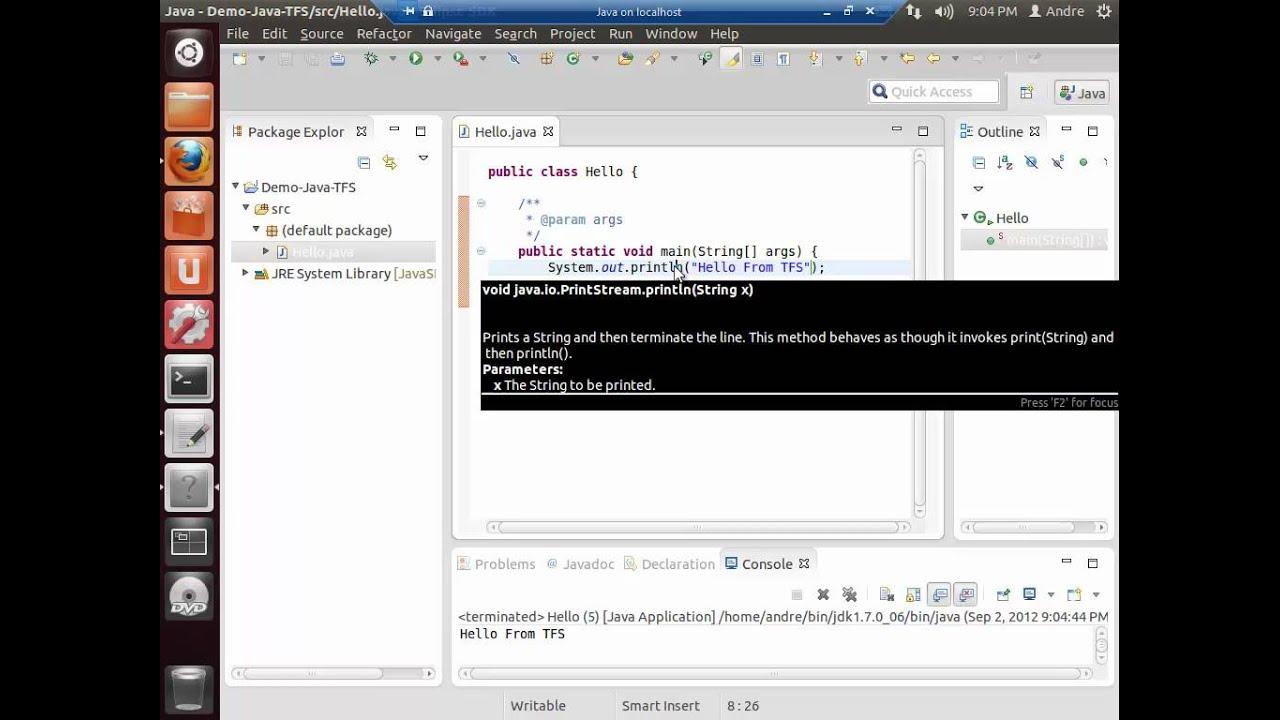 004 - O Mundo Mudou: Linux, Java, Eclipse e Maven com TFS