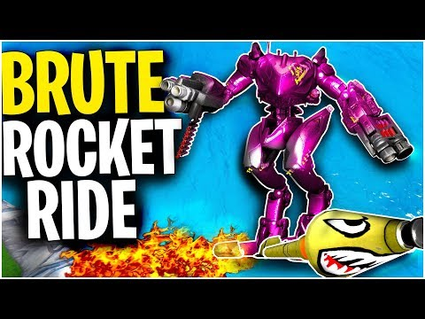 Can You ROCKET RIDE With The B.R.U.T.E? | B.R.U.T.E Lands On LAUNCH PAD! | Fortnite Mythbusters
