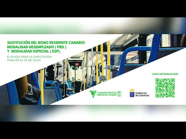 Campaña cambios de Bonos de Transporte del Cabildo de La Palma