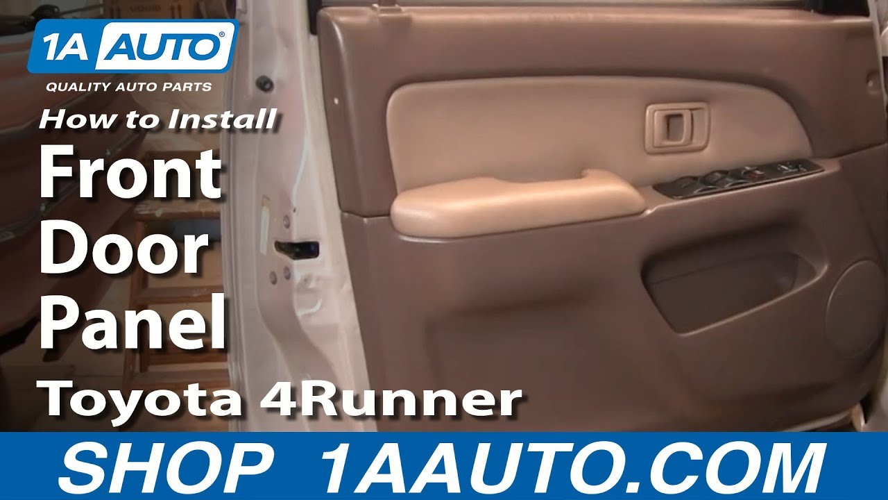 How To Remove Front Door Panel 96 02 Toyota 4runner Youtube
