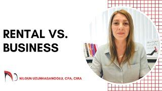 RENTAL INCOME VS. BUSINESS INCOME
