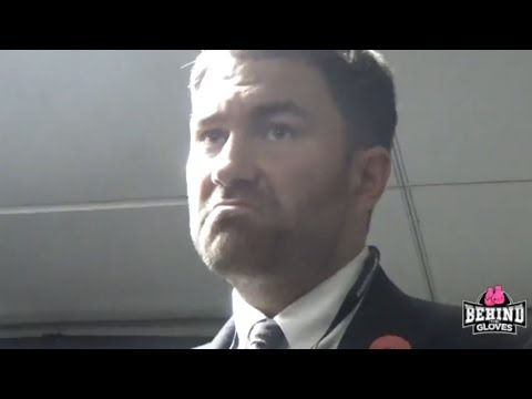 """DOES RACE PLAY A PART IN PROMOTING FIGHTERS?"" EDDIE HEARN POST JACOBS PRESSER"