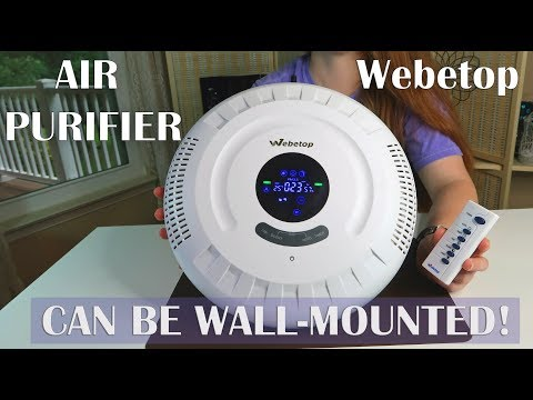 🍀 WEBETOP AIR PURIFIER (Wall-Mounted/Floor) 6-in-1 HEPA Filter (Remove Odors Allergens) REVIEW👈