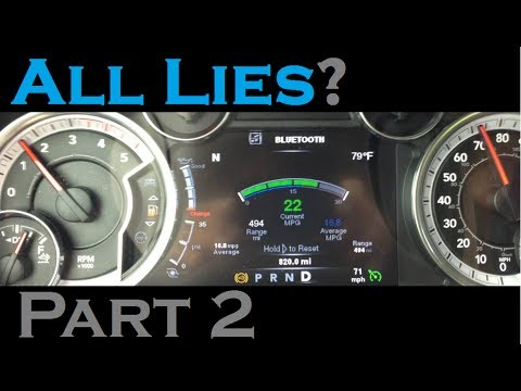 Is Ram Lying To You Part 2 Of 6 How Accurate The Mpg Gauge 2017 2500 Mins Laramie