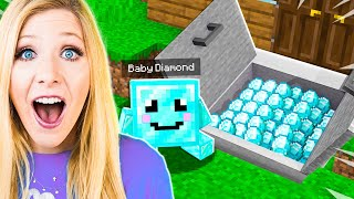 I Found Baby Diamond's Secret Base in Minecraft!