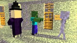 Minecraft Мультики Школа монстров Дрифт и находка Майнкрафт анимация