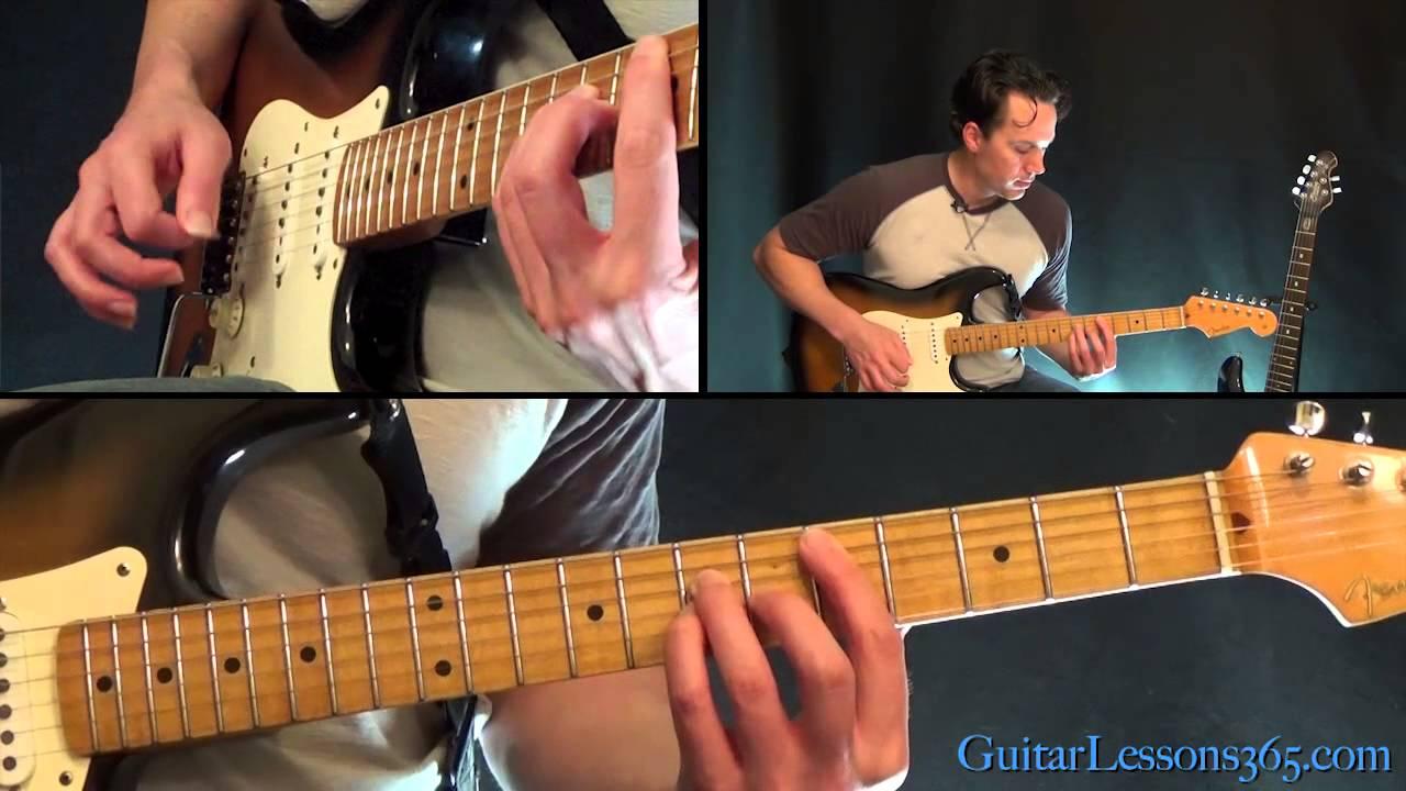 Livin On A Prayer Guitar Lesson Pt1 Bon Jovi All Riffs Youtube
