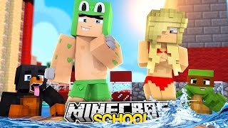 Minecraft SCHOOL - SWIMMING COMPETITION IN SCHOOL AGAINST THE BULLIES - Donut the Dog Minecraft