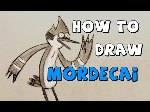 how to draw mordecai step by step