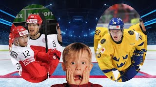 Хоккей Дания Швеция Чемпионат мира по хоккею 2021 в Риге период 1