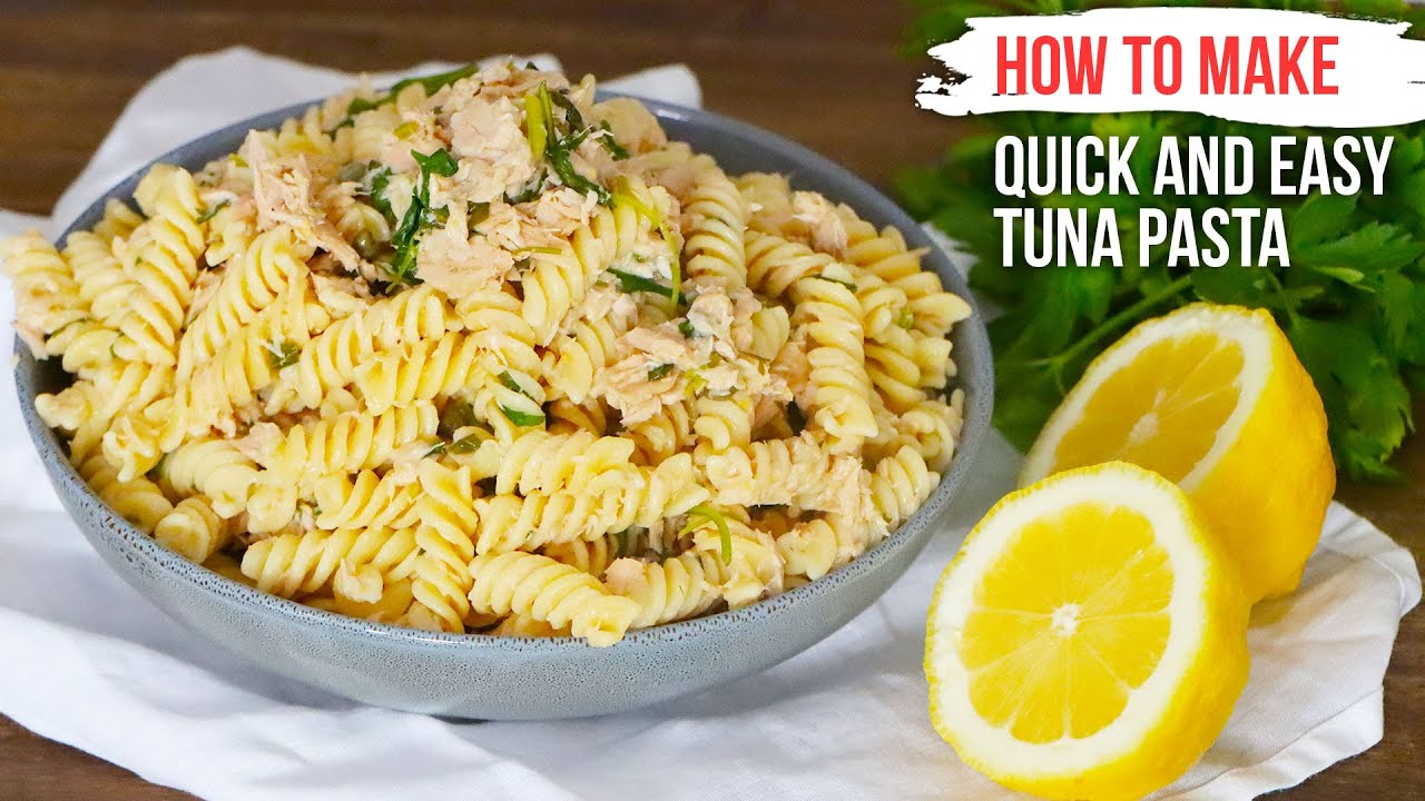 How to Make Quick and Easy TUNA PASTA like an Italian