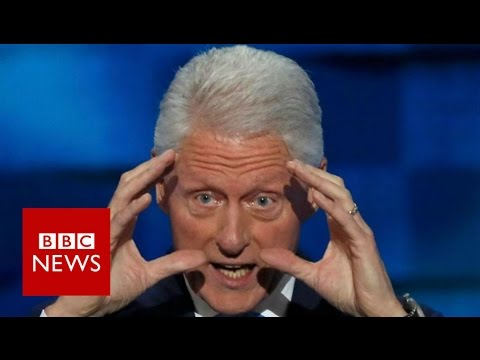 Bill Clinton: 'I hope you'll elect her' - BBC News