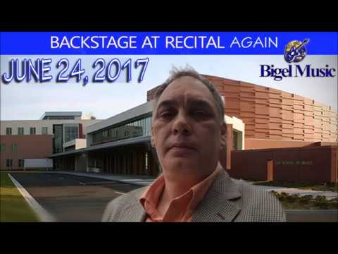 Back stage again for Bigel Music Recital at USF 06/24/2017