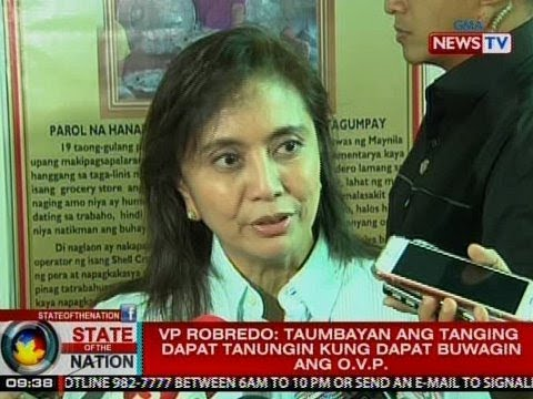 SONA: VP Robredo: Taumbayan ang tanging dapat tanungin kung dapat buwagin ang OVP
