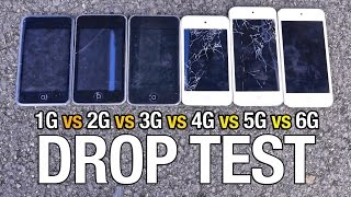 iPod Touch 6G vs 5G vs 4G vs 3G vs 2G vs 1G Drop Test!