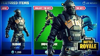 NEW SLEDGE SKIN + IMPACT EDGE PICKAXE NEW FORTNITE ITEM SHOP UPDATE