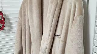 보들보들 극세사 수면로브가운, 겨울여행잠옷