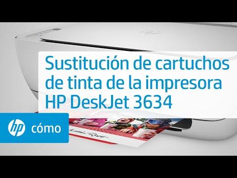 Sustitución de cartuchos de tinta de la impresora HP DeskJet 3634   HP DeskJet   @HPSupport