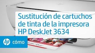 Sustitución de cartuchos de tinta de la impresora HP DeskJet 3634