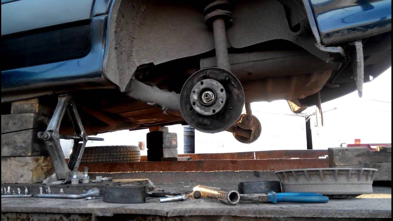 ВАЗ 2114 замена тросов ручного тормоза