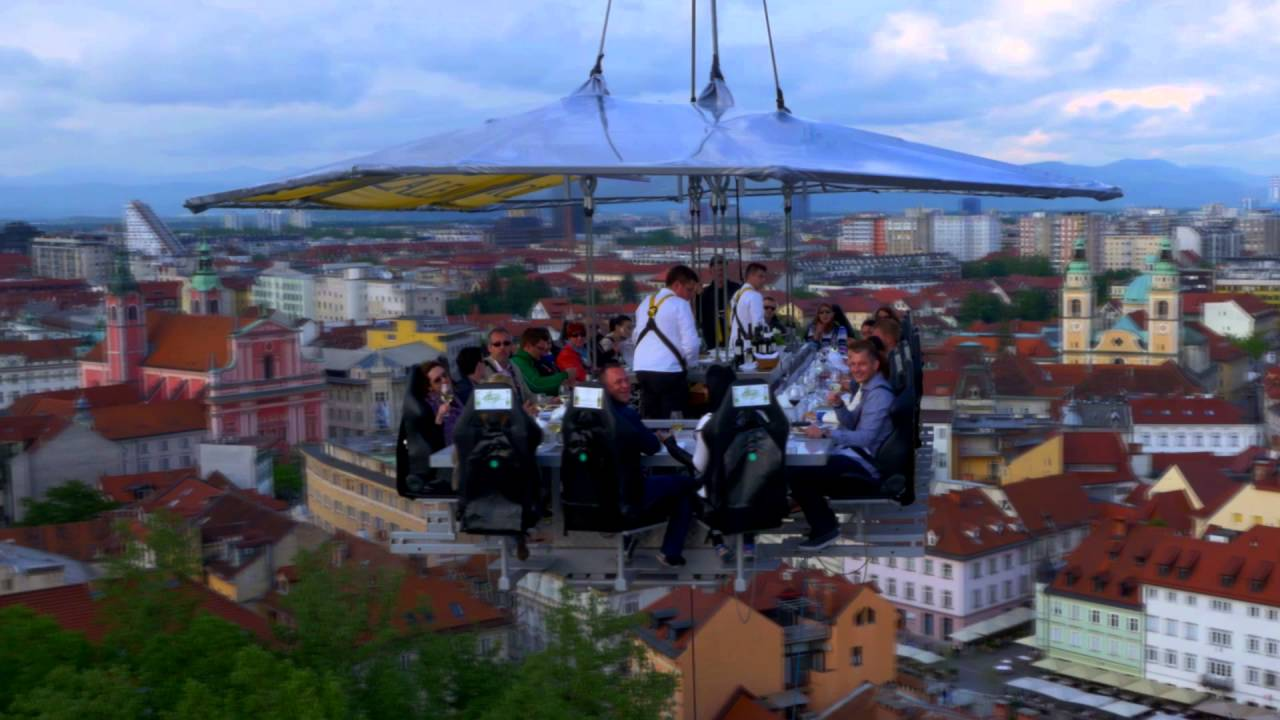 Dinner In The Sky BRATISLAVA YouTube - Dinner in the sky an unforgettable experience