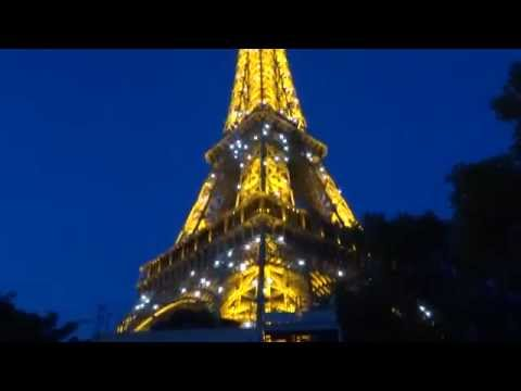 Eiffel Tower, at night, Paris, France