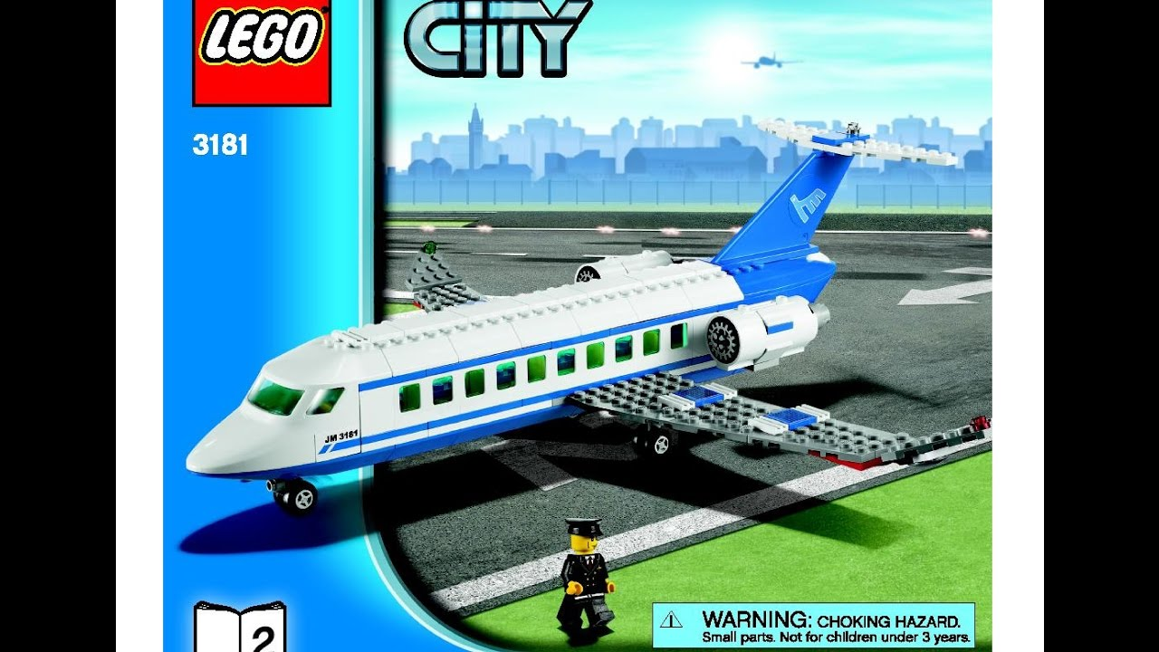 Lego City Passenger Plane 3181 Instructions Diy Book 2 Youtube