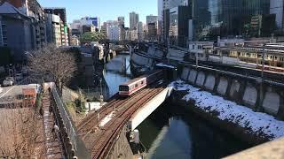 【残雪】20180125_鉄道のある風景_ 聖橋