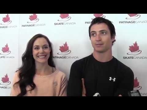 Tessa Virtue & Scott Moir [HD] - The Canadian Press Interview at HPC 2016