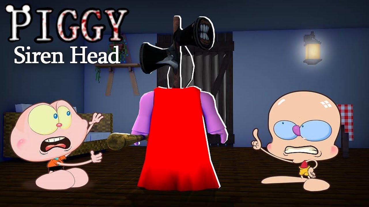 MONGO E DRONGO ESCAPARAM DA PIGGY SIREN HEAD! - Nova Piggy Cabeça de Sirene (Mongo e Drongo)