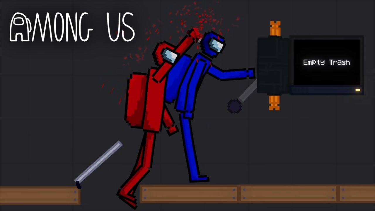 AMONG US IN PEOPLE PLAYGROUND! KILLS | People Playground gameplay
