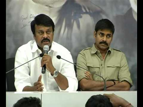 CHIRANJEEVI PAWANKALYAN AT PRP PARTY OFFICE