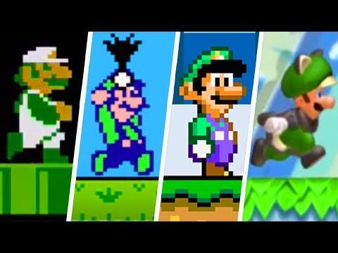 Evolution Of Luigi In Super Mario 2D Games (1985 - 2019)
