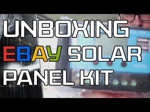 DIY Camper Build – UNBOXING – eBay 100w Ulica Solar panel kit