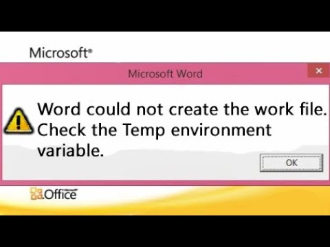 Word could not create the work file, error message [FIXED with EASY