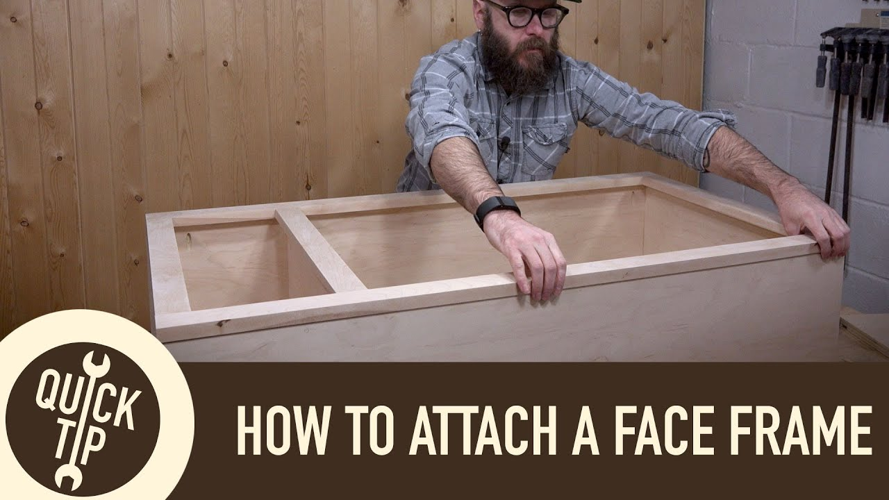 How to Make and Attach a Face Frame - YouTube