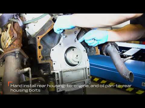 How to Replace the Rear Main Seal Cover on a General Motors V8