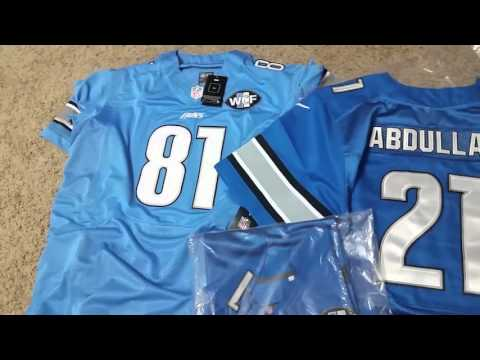 NFL Jerseys NFL - Mary Jersey, Ameer Abdullah, Calvin Johnson, and Matthew Stafford ...