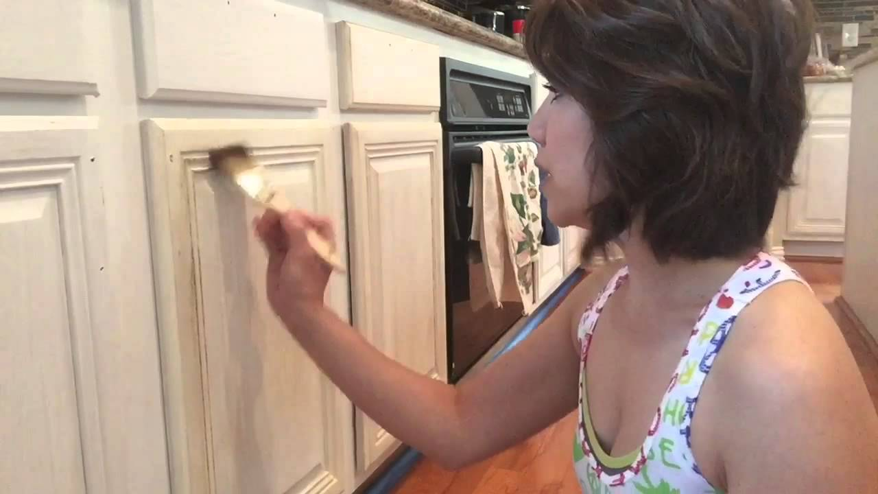 Amy Howard Kitchen Makeover    How To Paint And Distress Kitchen Cabinets    YouTube