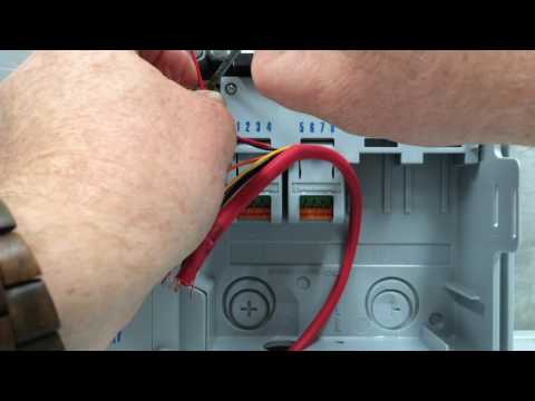 Wiring the Weathermatic ProLine Controller - YouTube on