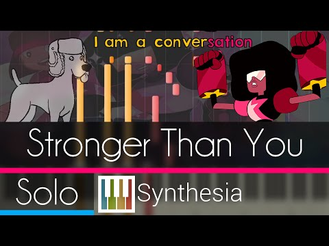 Stronger Than You - Steven Universe - |SOLO PIANO TUTORIAL w/LYRICS| -- Synthesia HD