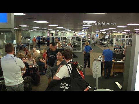9/18/2014 Phoenix, AZ  Sky Harbor Locked Down, Behind Security Check Point