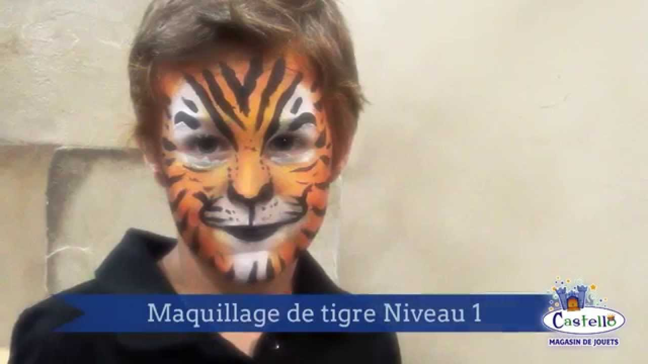 Tutoriel tigre maquillage facile youtube Maquillage de diablesse facile a faire